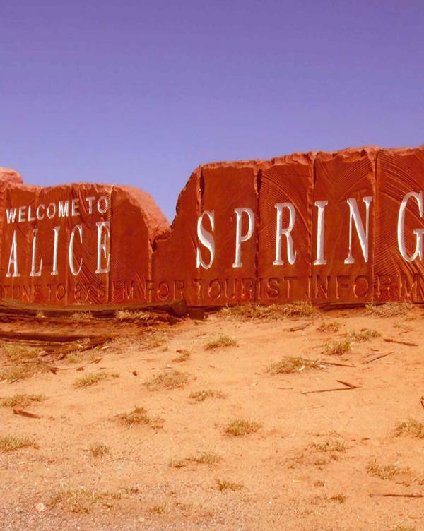 Aankomst in Alice Springs
